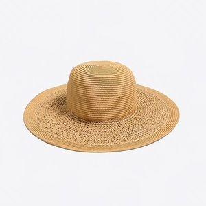 J crew | woven straw floppy beach hat
